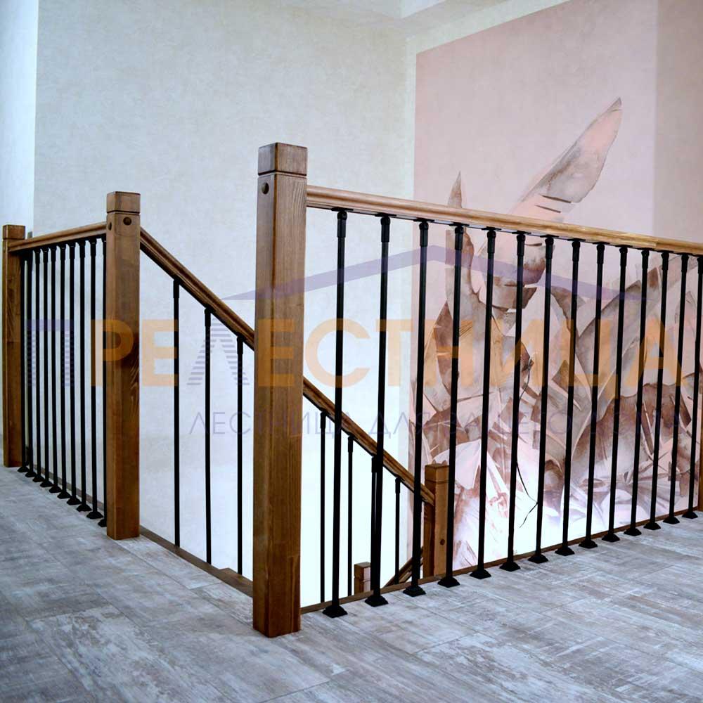 Пример ограждения лестницы